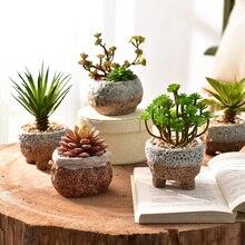 Грубая керамика цветочный горшок больше мяса цветочный горшок, корейский бассейн очень бодрящий Отдел горения офис зеленый горшок растений