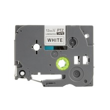 einkshop tze231 tz231 12mm Black on White label tape for Brother P-touch Printer tze-231 tz-231 tz tze 231laminated