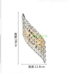 Image 2 - Wall Sconce Modern LED Crystal Wall Lamp With 2 Lights For Home Lighting Wall Sconce Arandela Lamparas De Pared