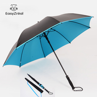 EasyZreal golf umbrella strong windproof Semi automatic long umbrella Creative large Outdoor man and women's Business umbrellas