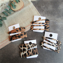 2PCS/set New Fashion Leopard Hairpins Barrettes Hair Clip Clamp Jewelry Styling Tools For Girls Women Accessories