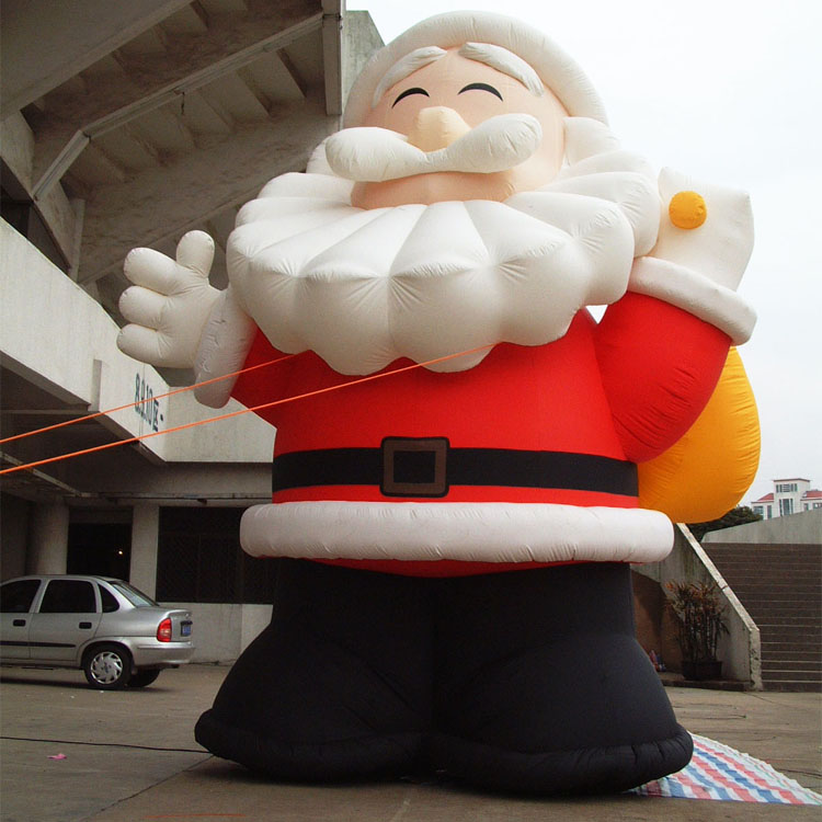 Inflatable Cartoon Customized Advertising Giant Christmas inflatable Santa Claus For Christmas Outdoor Decoration cartoon christmas santa claus printed home decor pillow case