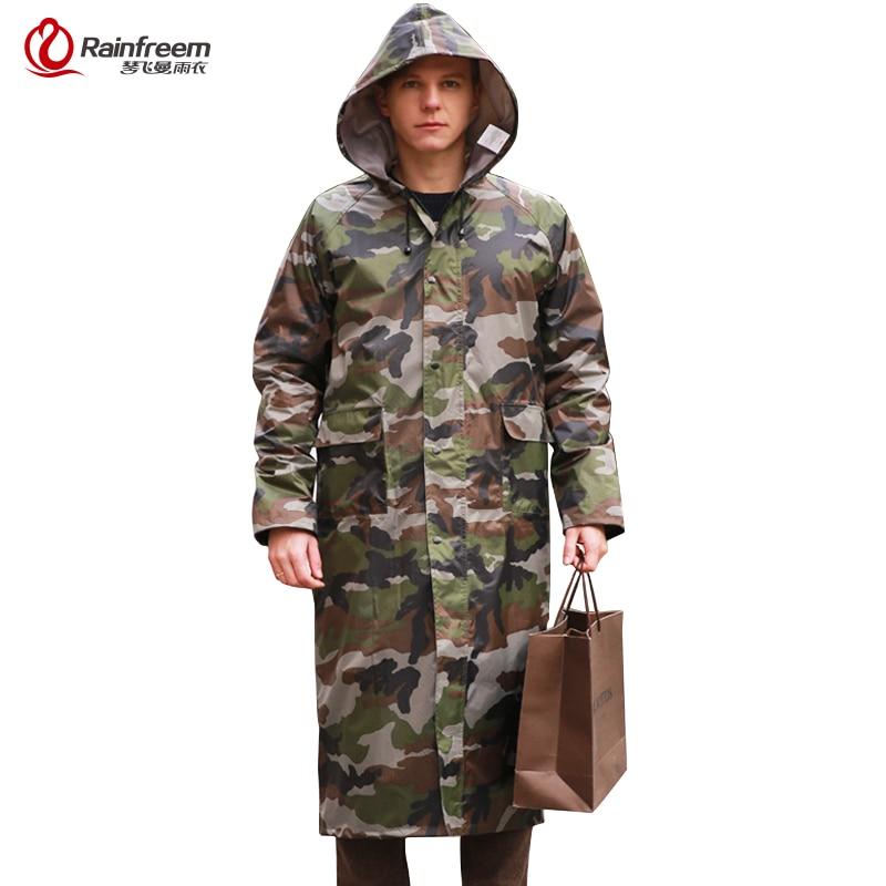 Rainfreem Camouflage férfiak esőkabát vízhatlan esődzseki Poncho Extra Large S-6XL felsőtő esőruha hadsereg zöld eső felszerelés