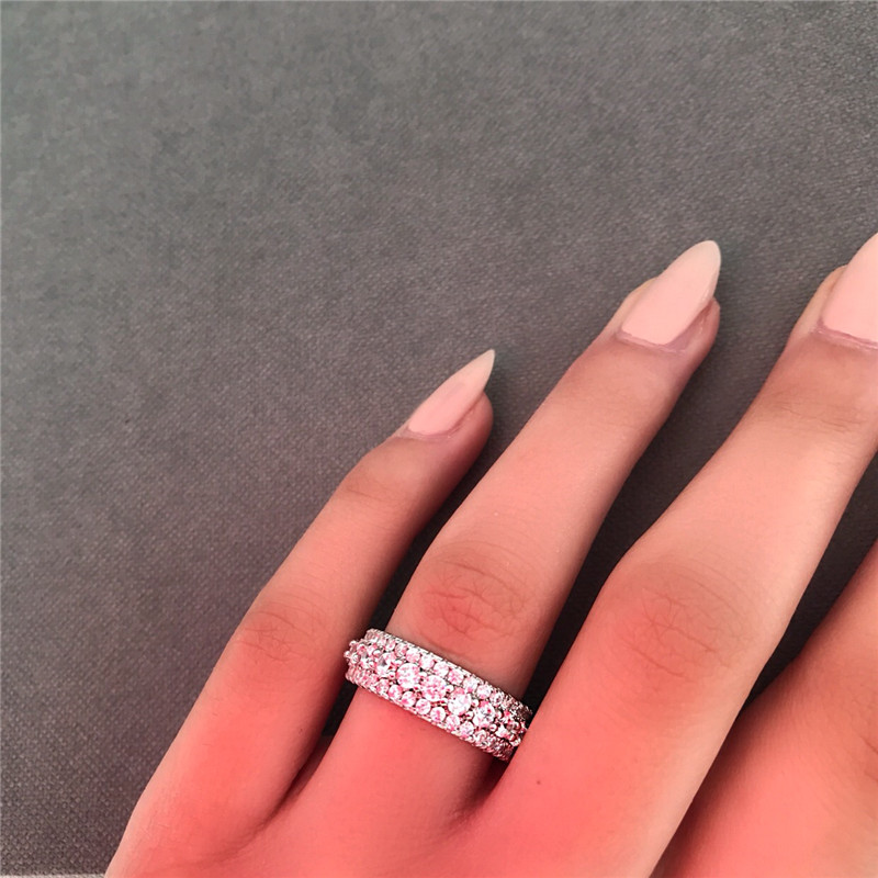 Image 4 - choucong Statement Rotatable Promise Ring 925 sterling Silver AAAAA Zircon cz Engagement Wedding Band Rings For Women Jewelry-in Wedding Bands from Jewelry & Accessories