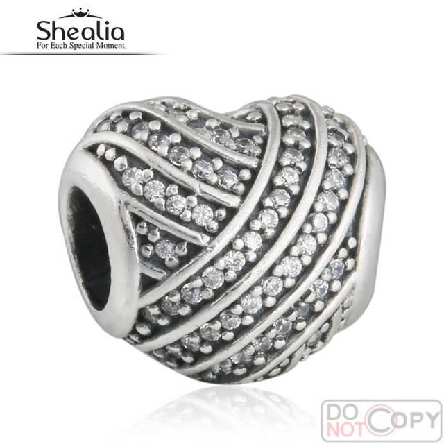925-Sterling-Silver Love Lines encantos del corazón 2016 día de la madre AAA CZ pavimenta el regalo del corazón pulsera del encanto joyería de Diy que hace BD362
