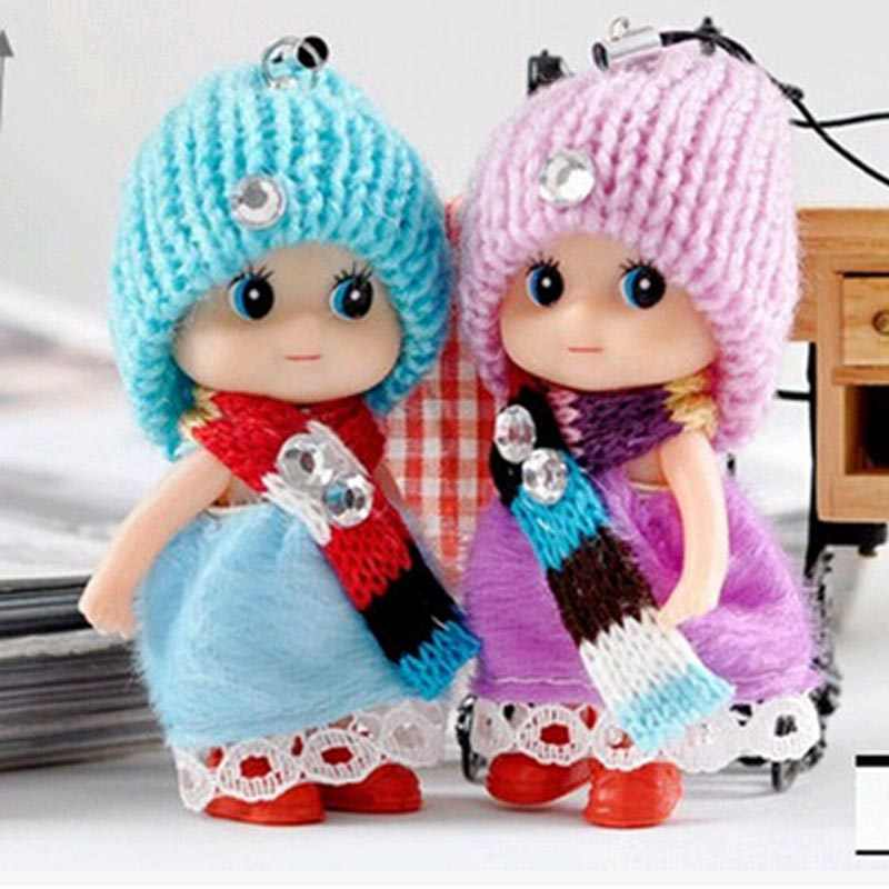 2PIECE /LOTS Soft Interactive Baby Female Dolls Toys Mini Cute Doll Toy For Kids Unisex Wedding Boy Girl Gifts 8CM 2019 Hot Sale
