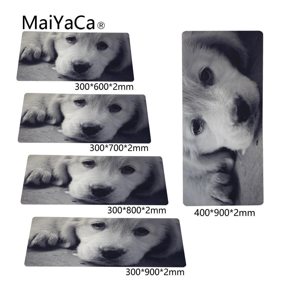 MaiYaCa Desktop Pad Optical Soft Wallpaper Sad Eyes Dog 300X700X2mm and 400X900X2mm New Arrivals Mouse Pads