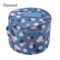 Osmond 2017 New Fashion Women Cosmetic Bags Make Up Travel Toiletry Storage Box Makeup Bag Wash Bra Underwear Organizer Cases