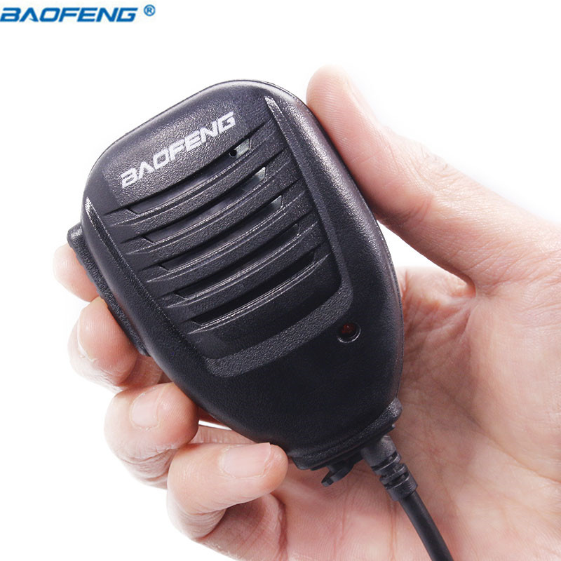 Baofeng UV-5R UV-82 BF-888S PTT Walkie Talkie Lautsprecher Mic Handheld Mikrofon Für Kenwood Pofung UV5R UV82 8 watt Tragbare Radio