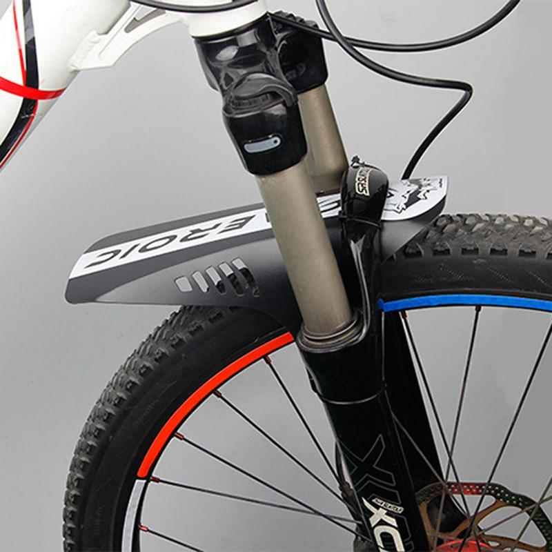 "2 Pcs Mountian Bike Fender MTB Mudguard Plus Front Rear Bicycle Fits 26/"""