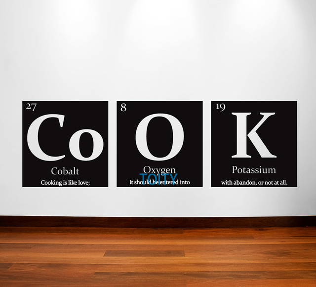 Periodic table of elements cook vinyl wall decal with quote home periodic table of elements cook vinyl wall decal with quote home kitchen sticker room decor mural urtaz Choice Image