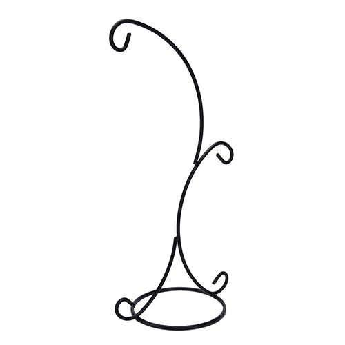 2-ganci Appesi Vetro Bagattella Del Ferro Del Basamento Del Supporto Garden Home Decor Hanging Holder Senza Palla di Vetro Vaso di Ferro Vaso di fiori supporto del basamento