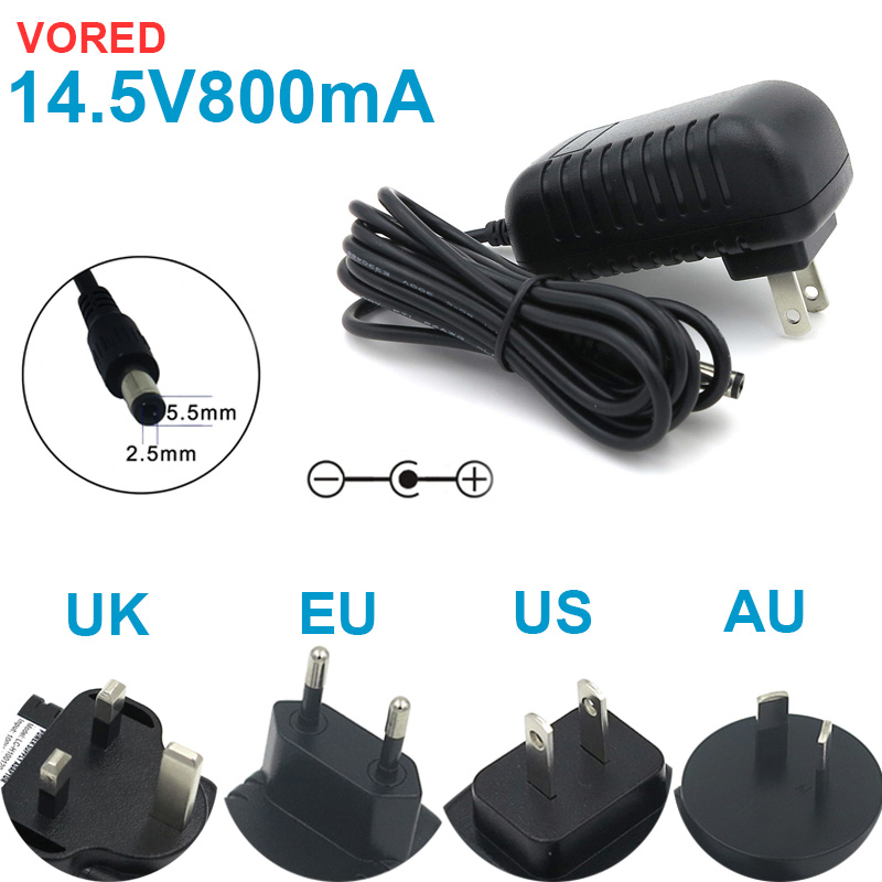 NEW 1PCS 14.5V800mA Universal Charger Power Supply Adapter Converter US/EU/UK/AU Plug 5.5*2.5mm For Set-top Boxes Free Shipping