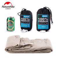 Naturehike Outdoor Adult Envelope 100% Cotton Sleeping Bag Liner Single Sleeping Bags Can Splicing Camping Bussiness Travel 1PC|single sleeping bag|cotton sleeping bagsleeping bag liner -