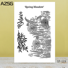AZSG Spring Meadow Clear Stamps/Seals For DIY Scrapbooking/Card Making/Album Decorative Silicone Stamp Crafts