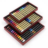 12/24 couleurs Pastelfor huile Soluble dans l'eau pour artiste étudiant Crayon doux Graffiti peinture dessin stylo école papeterie Art fournitures