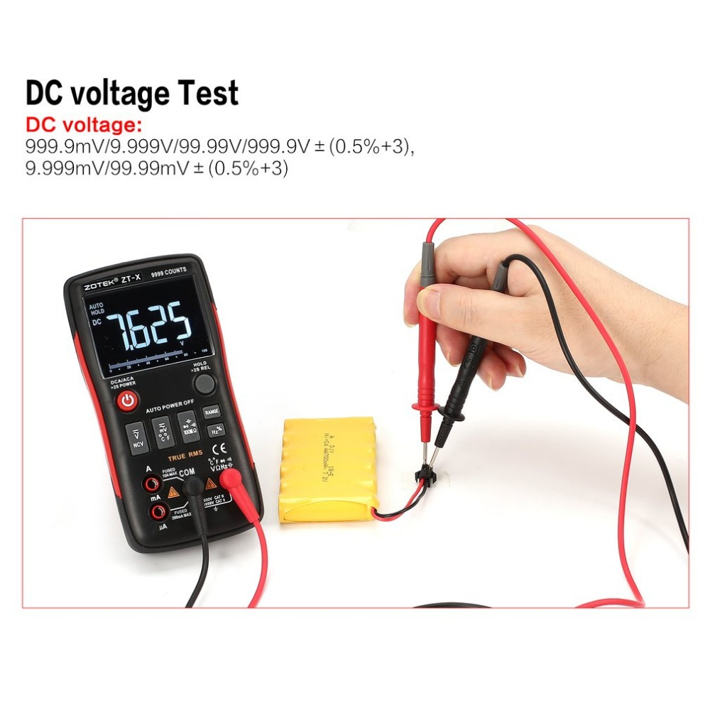 Zt X Digital Multimeter Auto Range True Rms Ac Dc Volt Amp Ohm Electrician Testing Doorbell Transformer With Capacitance Duty Cycle Ncv Diode Temperature Tester 9999 Counts In Multimeters From Tools On