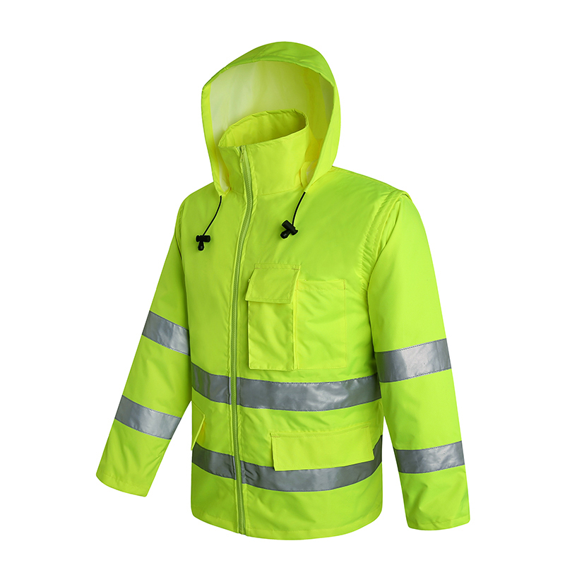 Tireless Reflective Jacket Safety Gear Night Reflective Coat Fluorescent Size S-l Customize Logo Printing Wholesales V120071 Safety Clothing Security & Protection