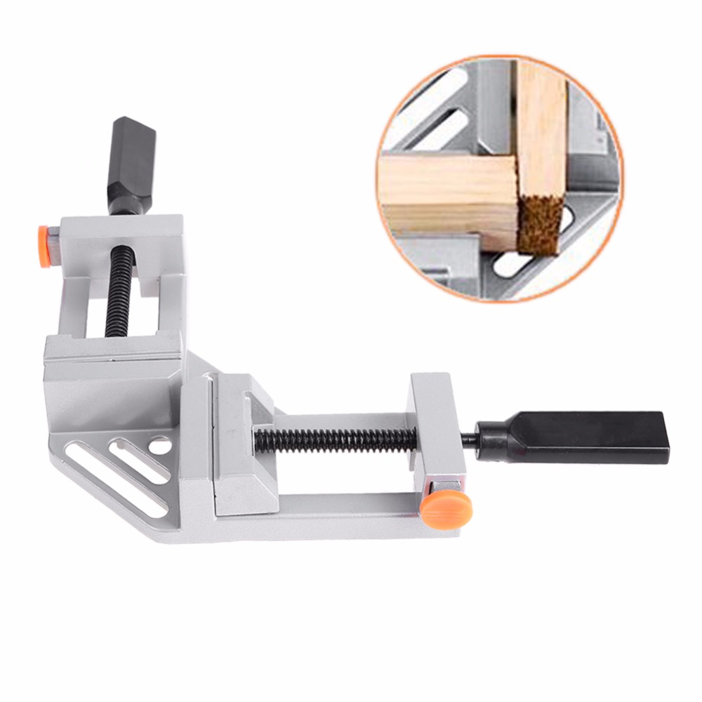 90 Degree Right Angle Clamp Mitre Clamps Corner Clamp Picture Holder Woodwork Aluminum Alloy Right Angle Corner Clamp-in Clamps from Home Improvement