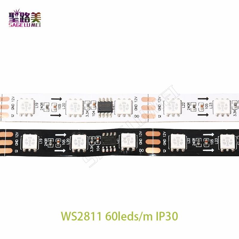 DC12V SMD5050 RGB Flexibel adresserbar 30/48 / 60leds / m ws2811 ledd - LED-belysning - Foto 5