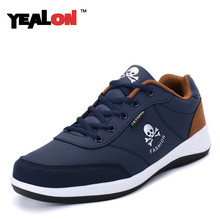 YEALON Mens Casual Shoes Men Trainers Breathable Lace-up Light Soft Male Flats Footwear Zapatos Hombre Size 39-44