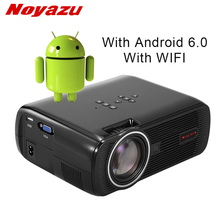 hot deal buy noyazu android 6.0 projector wifi bluetooth portable hd led tv projector 3d home theater lcd projectors video projector beamer