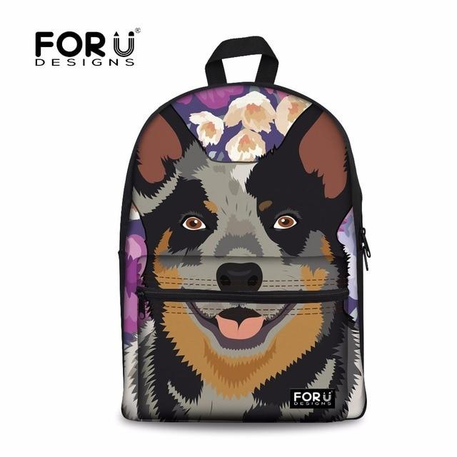 9f2a519994f FORUDESIGNS Australian Cattle Dog Backpack Female Large Laptop Backpacks  Women Fashion Shoulder Bag for Teen Girl School Bagpack