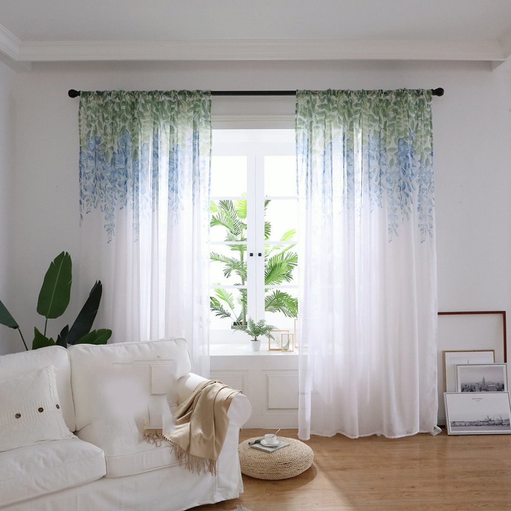 Tulle Kitchen Curtain For Window Balcony Design Stitching Colors