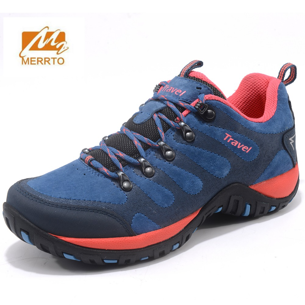 MERRTO women's autumn winter outdoor hiking shoes anti-skid damping wear-resistant off-road climbing camping waterproof sneakers merrto men s outdoor cowhide hiking shoe multi fundtion waterproof anti skid walking sneakers wear resistance sport camping shoe
