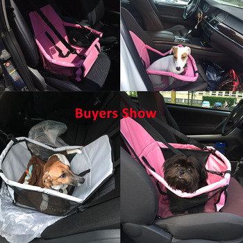 Pet Dog Carrier Pad Waterproof Dog Seat Bag Basket Pet Products Safe Carry House Cat Puppy Bag Dog Car Seat 2