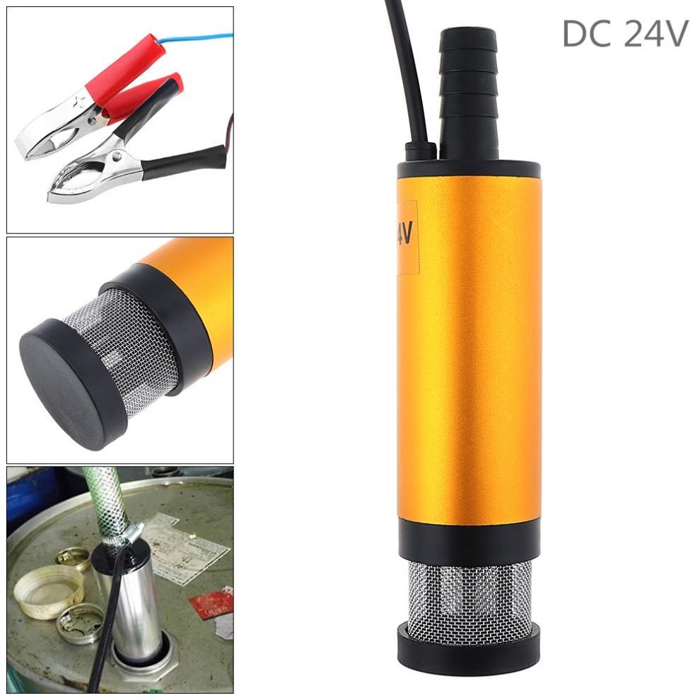 12V 24V 38MM Aluminium Alloy Auto Car Electric Submersible Pump Fuel Water Diesel Oil Barrel Pump 12L / Min Fuel Transfer Pump