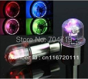 4 pcs/lot Led Tyre auto Wheel light Tire Valve Caps Covers Neon Sensor bulbs Lamps Bike/Car/Truck/Motorcycle  -  APOLLO TECHNOLOGY CO., LTD store