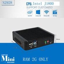 2G 4G 8G RAM  fanless thin client Good quality AD PLAYER CPU J1800 two lan port industrial mini pc