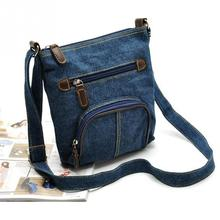 Denim Shoulder Bag Ladies Satchel Zipper Bag Messenger Cross