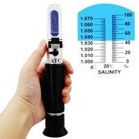 Hand held Salinidade 0-10% de cloreto de sódio Maricultura Salinometer salinidade Refratômetro aquário ferramenta de teste de 20% de desconto
