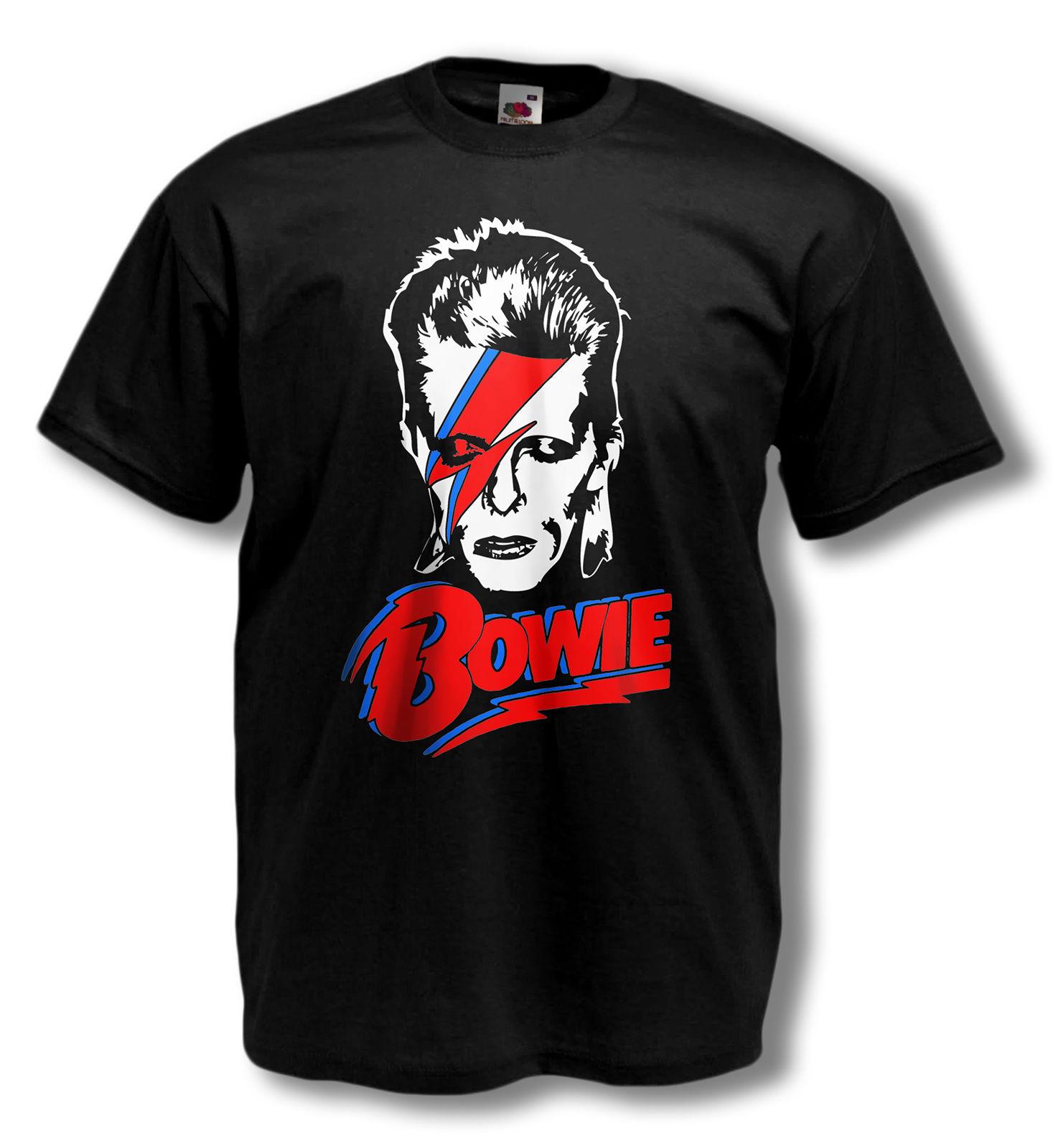 David Bowie T-shirt ALADDIN SANE bowie tribute tshirt JEAN GENIE mens ALL SIZES Summer Casual Man T Shirt Good Quality top tee