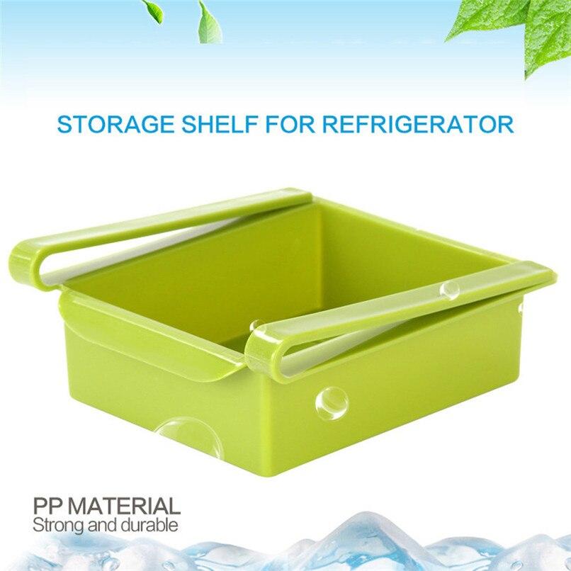 1PCS Kitchen Organizer Shelf Kitchen Refrigerator Space Saver Organizer Shelf Fridge Organizer Box Rack cocina organizador D13 (12)