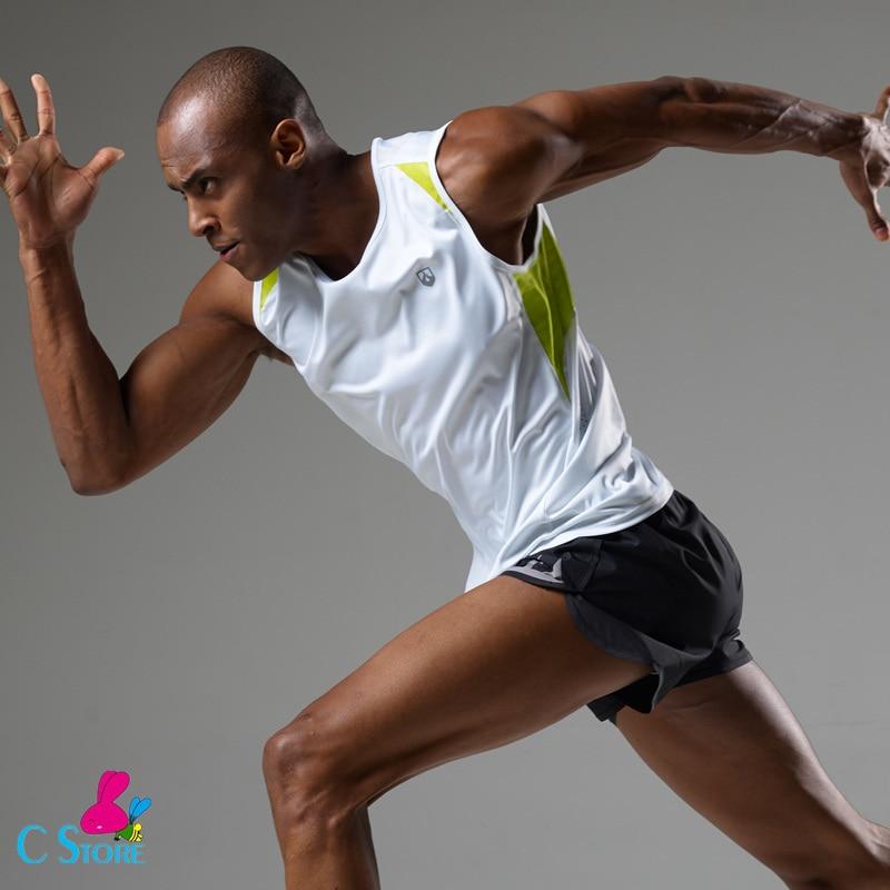 High Visibility Reflective Fluorescent Sleeveless Running Man Training Vests Dry Fit Tank Top  Men Running Vest