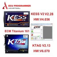 DHL Бесплатная доставка Лучшее качество Ktag K TAG Ecu Инструмент программирования KTAG V2.13 мастер KESS V2 неограниченный маркер с ECM Титан V1.61