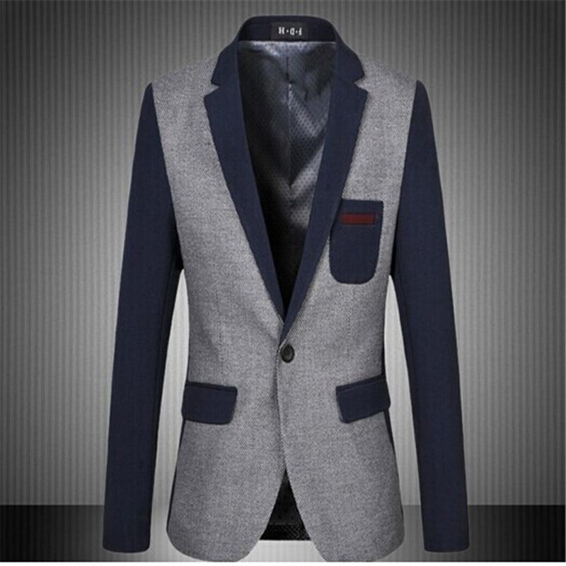 2016 new arrival Big Size M-6XL Men Suit Plaid Cotton Casual mens floral blazer Slim Business Jacket Patchwork