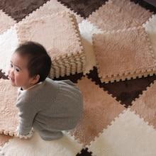 Детский развивающий коврик, мягкий эва пенный плюшевый пазл, блокировка пола, коврик для занятий спортом, детский гимнастический коврик, 9 шт./лот