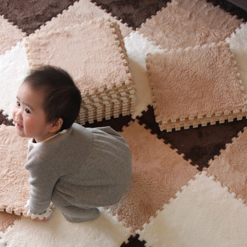 Baby Developing Mat Soft EVA Foam Plush Puzzle Interlock Floor Mat Exercise Activity Children Gym Mat 9pcs/Lot