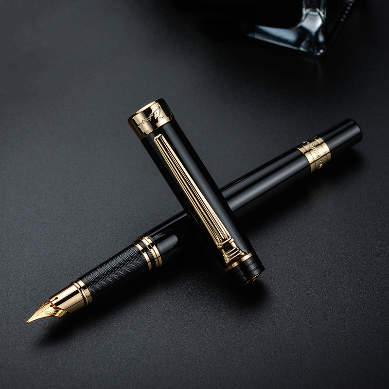 Picasso 917 Pimio Emotion of Rome Fountain Pen Ink Pens Black with Gold / Silver Clip Gift Box Optional Business Office Gift SetPicasso 917 Pimio Emotion of Rome Fountain Pen Ink Pens Black with Gold / Silver Clip Gift Box Optional Business Office Gift Set