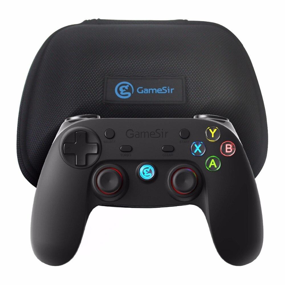 GameSir G3s 2.4 Ghz Sans Fil Bluetooth Filaire Gamepad Contrôleur + Cas avec Support pour Android TV BOX Smartphone Tablet PC VR