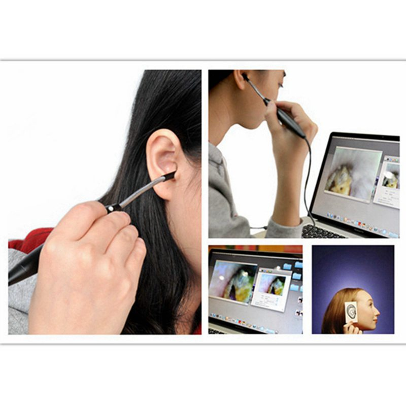 Supereyes 100x Medical USB Otoscope Ear Endoscope Camera Borescope Waterproof Digital Video Endoscope for Moblie Phone and PC все цены