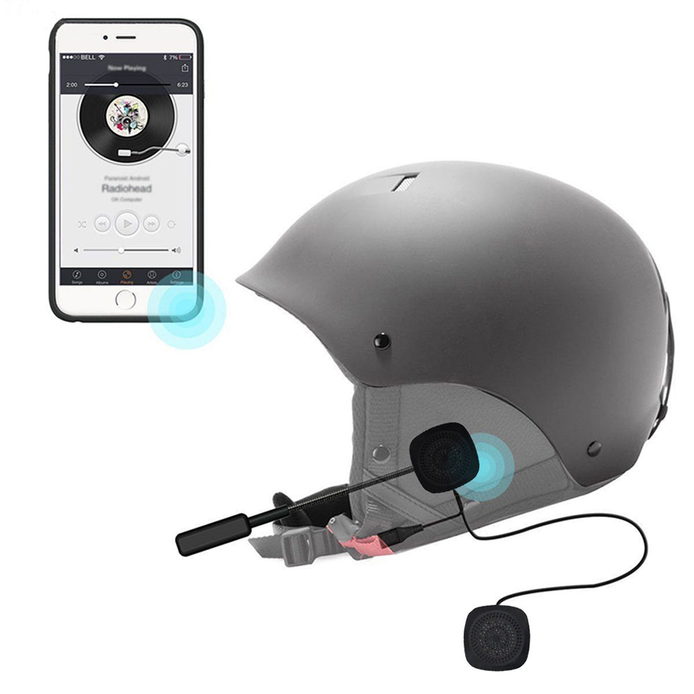 Helmet Headset Wireless Bluetooth Headphones Compatible With Most Motorcycle Scooter Helmets Hands Free Talking MH03 V4.2