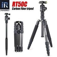 RT50C углеродного волокна штатив монопод для dslr камеры свет Портативный стенд компактный профессиональный рубец для Gopro лучше, чем Q666C