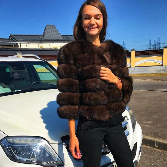 Fur Jacket Fashion Short silm Outwear Luxury