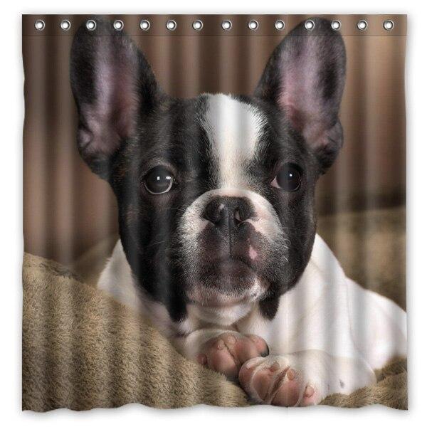 Franse Bulldog Ontwerp Badkamer Douchegordijn Waterdicht ...