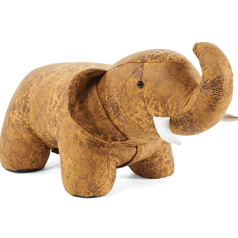 Creative elephant shape animal sofa stool children change shoes stool home decoration foot stool